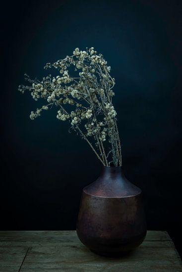 Modern stilleven droogbloemen in een vaas