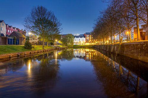 Spiegeling Oude Vissershaven - Bergen op Zoom van Stefan Fokkens