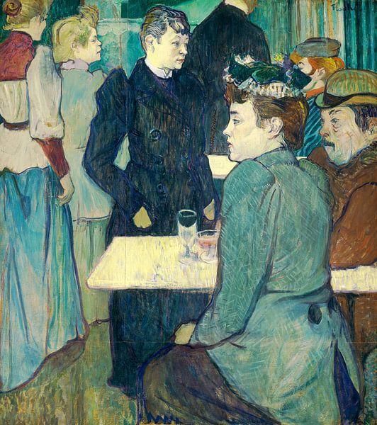 Een hoek van de Moulin de la Galette, Henri de Toulouse-Lautrec  van Liszt Collection
