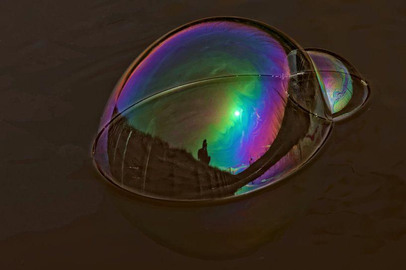 zeepbel reflectie van rene schuiling