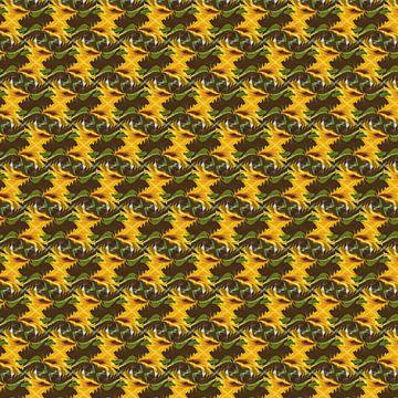 Sonnenblumenmuster - abstrakt von Christine Nöhmeier