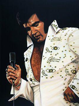 Elvis Presley painting sur Paul Meijering