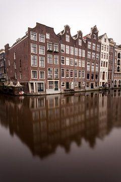 Amsterdamer Grachtenhäuser von Albert Mendelewski