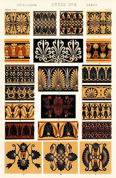 Owen Jones's famous 19th Century Grammar of Ornament van 1000 Schilderijen