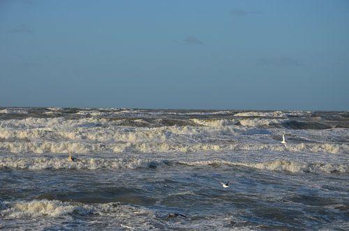Woeste zee van Op Het Strand