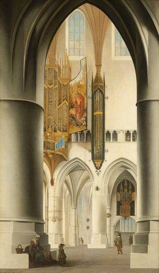 Interieur van de Sint-Bavokerk in Haarlem, Pieter Jansz. Saenredam van Meesterlijcke Meesters