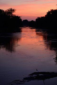 Zonsondergang bij de Donau van Ulrike Leone
