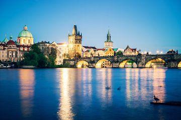 Prague at Night - Charles Bridge van