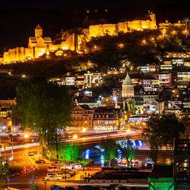 Panorama Tbilisi van Jeroen Kleiberg