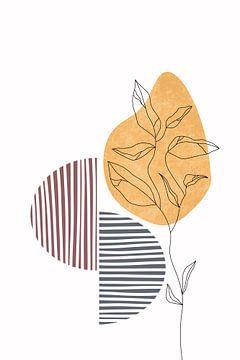 Wildblume Frühling III von Munich Art Prints