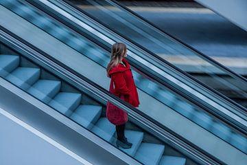 Woman in Red van Monica Zimmermans