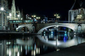 Nachtaufnahme von Gent I von Christian van Lent