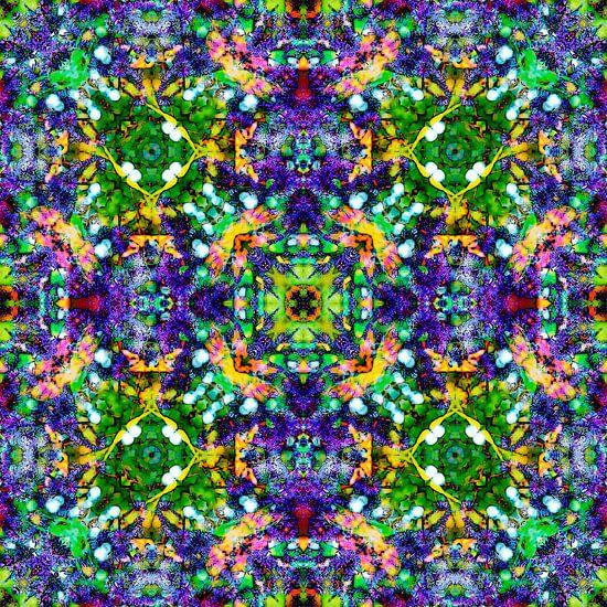 Purple Flowers van Frans Blok