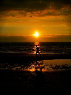 Spel bij ondergaande zon van Marloes Vissers-Schurman