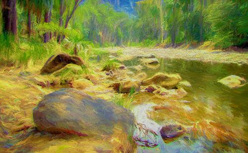 Rivier in Carnarvon Nationaal Park, Australie