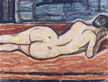 Liegender Weiblicher Rückenakt, Christian Rohlfs, Um 1910
