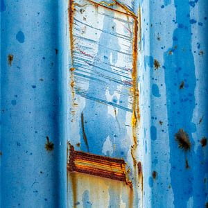 Roestig blauw en bruin - studie 3 van