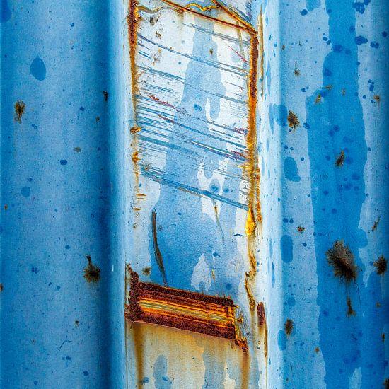 Roestig blauw en bruin - studie 3 van Texel eXperience