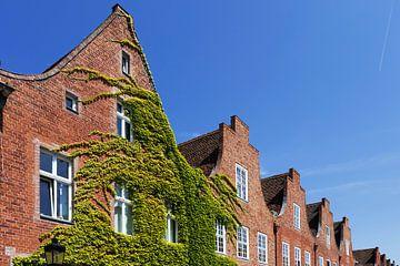 Historische Fassaden im holländischen Viertel in Potsdam