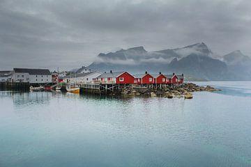 Hamnøy, Noorwegen van Marco Lodder
