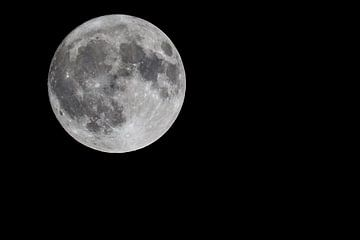 Volle maan (rechthoek, liggend) van Fotografie Jeronimo