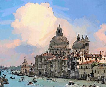 Italien Venedig Canal Grande von Schildersatelier van der Ven