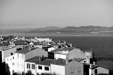 Mooi zicht op Saint-Tropez van Tom Vandenhende