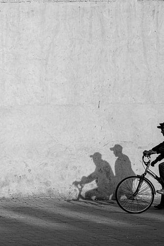 Zwart wit Straatfotografie - Fiets