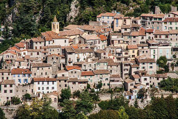 Sainte Agnes, dorpje aan de Côte d'Azur in Frankrijk