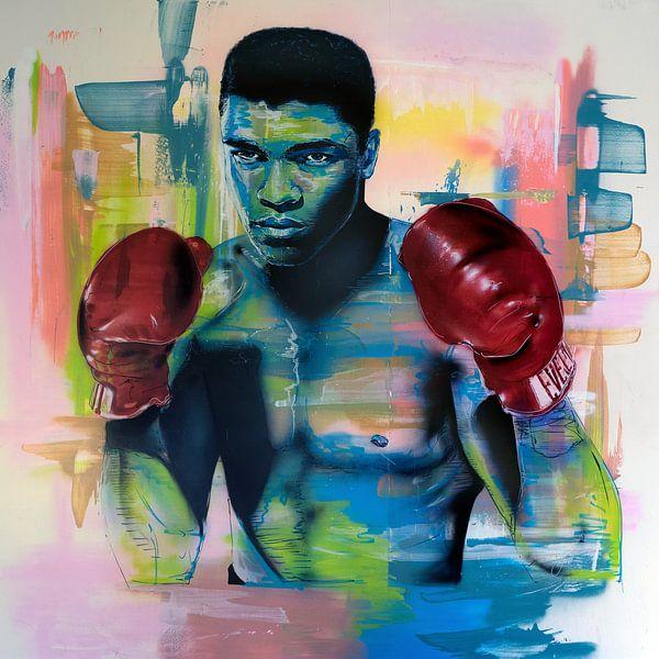 Muhammad Ali schilderij van Jos Hoppenbrouwers