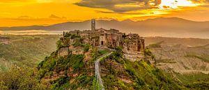 Civita di Bagnoregio at sunrise