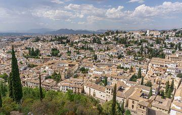 Blick über Granada von der Alhambra von Reis Genie