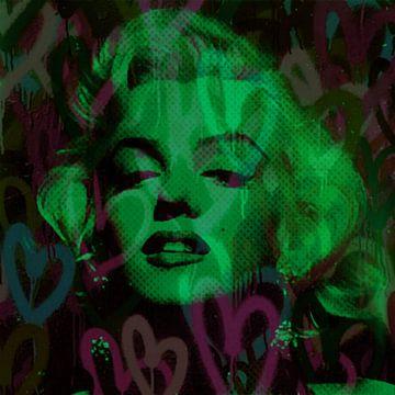 Marilyn Monroe Green Love Pop Art Pur von Felix von Altersheim