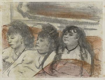 Drie vrouwen in een bordeel, Edgar Degas