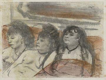 Drei Frauen in einem Bordell, Edgar Degas