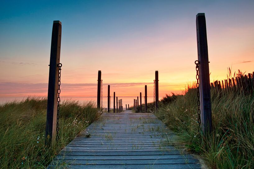 Cadzand strand Zeeland Nederland van Peter Bolman
