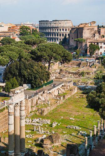 Het Romeinse  Forum  Romanum in Rome