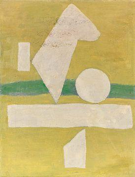 Weißes Zeichen auf Hellgrün, WILLI BAUMEISTER, 1940 von Atelier Liesjes