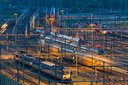Spoor emplacement Rotterdam Centraal van Anton de Zeeuw