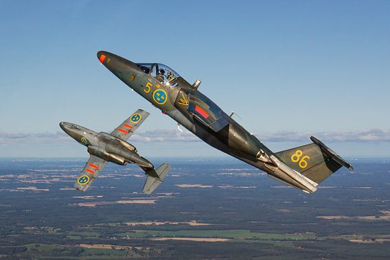 Zweedse Luchtmacht Saab Sk60s
