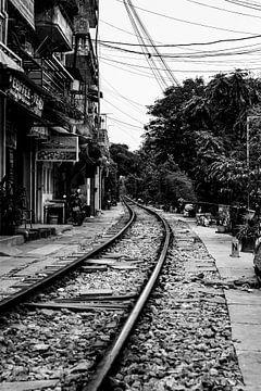 Eisenbahnlinie durch Hanoi von Dokra Fotografie