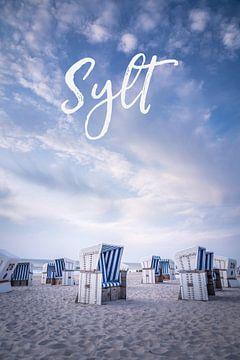 Sommerabend mit Strandkörben auf Sylt I von Christian Müringer
