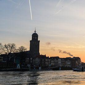 Zonsopkomst Deventer Skyline van Arjan Penning
