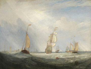 Helvoetsluys; die Stadt Utrecht, 64, Auf See, J. M. W. Turner