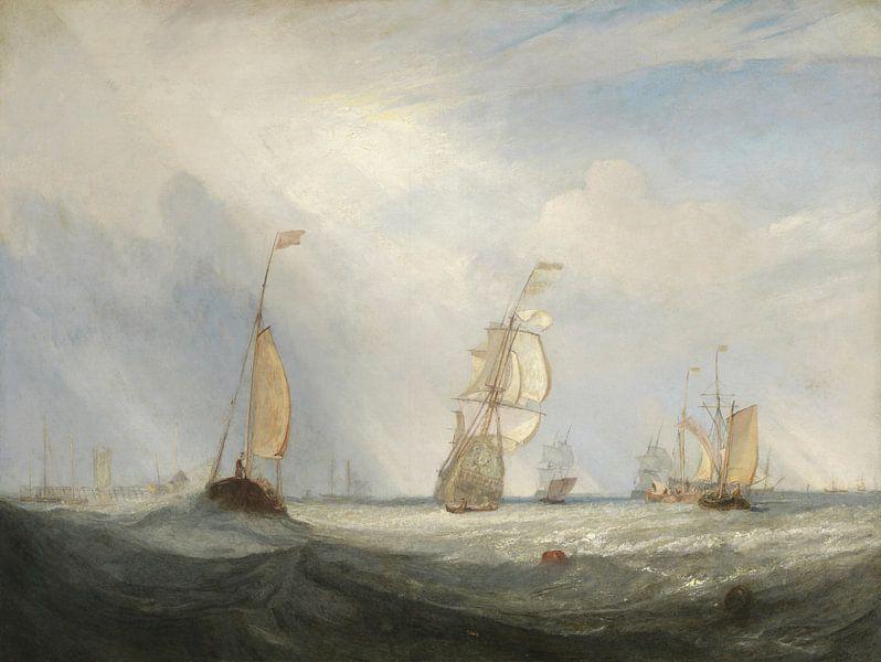 Helvoetsluys ; la ville d'Utrecht, 64, Going to Sea, J. M. W. Turner sur Meesterlijcke Meesters