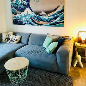 Kundenfoto: Die große Welle von Kanagawa, Hokusai von Rebel Ontwerp