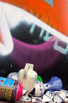 graffiti&delftsblauw#3 van Nellie de Boer