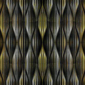 Gold Silber Abstrakt von Jacob von Sternberg