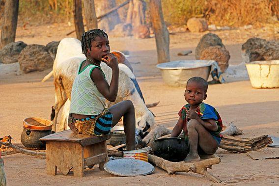 Dagelijks leven in Kalalé, Benin van Cora Unk