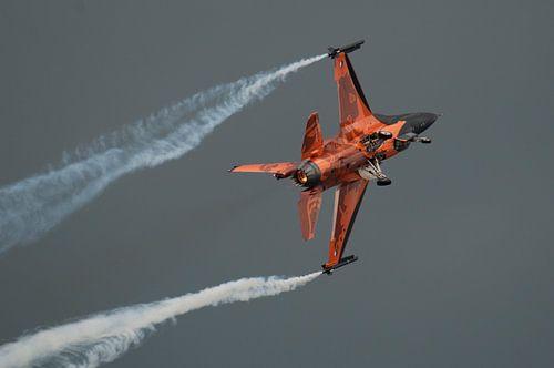 F-16 Demo team in actie